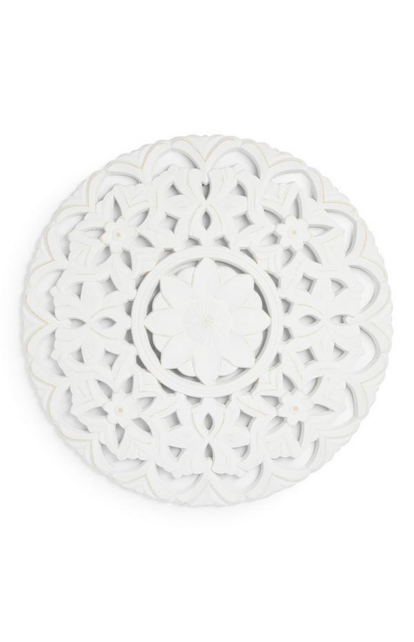 White Floral Ornate Wall Art