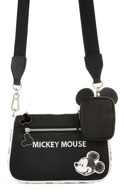 Black Disney Mickey Mouse Classic 2-In-1 Crossbody Bag