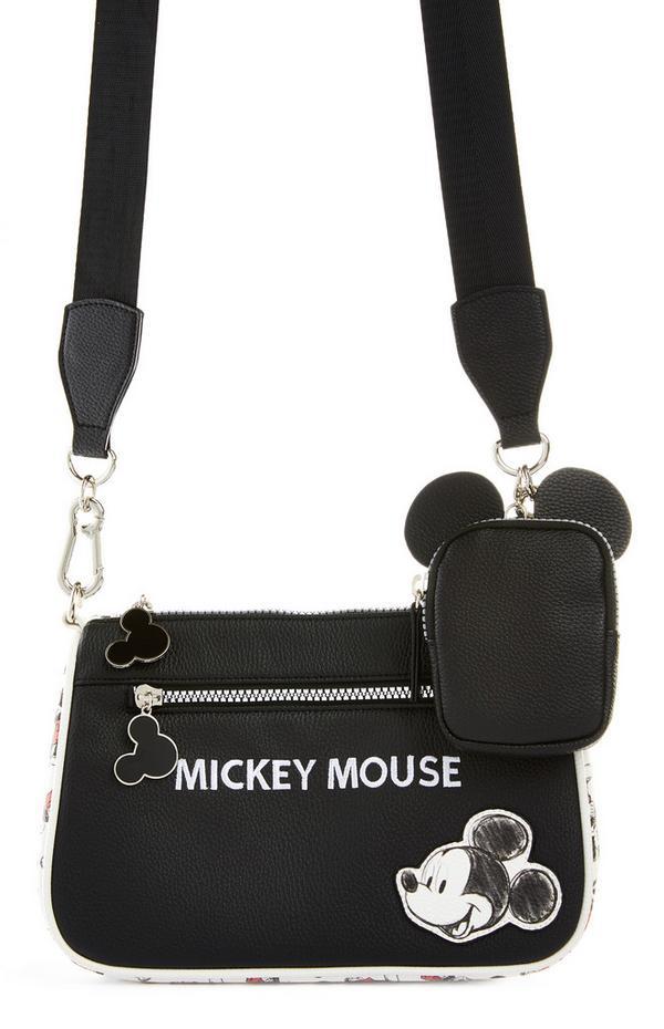 Black Disney Mickey Mouse Classic 2-In-1 Crossbody Bag