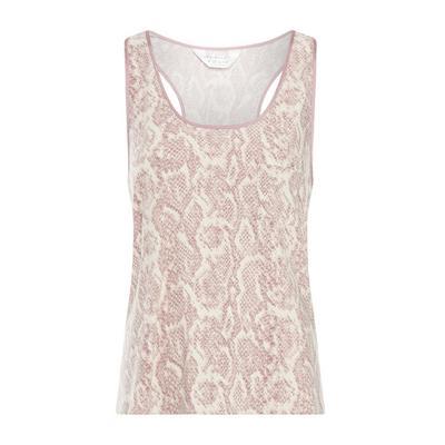 Pink Carbon Snake Print Pajama Tank