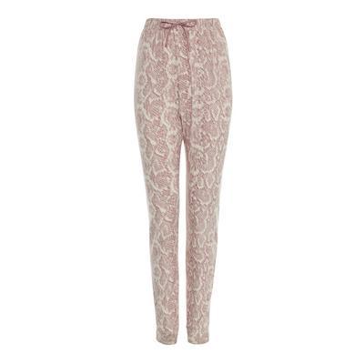 Pink Carbon Snake Print Pajama Leggings