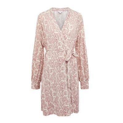 Pink Carbon Snake Print Robe