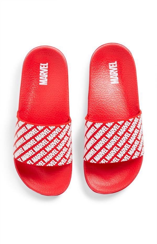 Rode slippers Marvel voor jongens