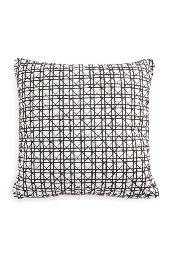 Monochrome Cane Weave Cushion