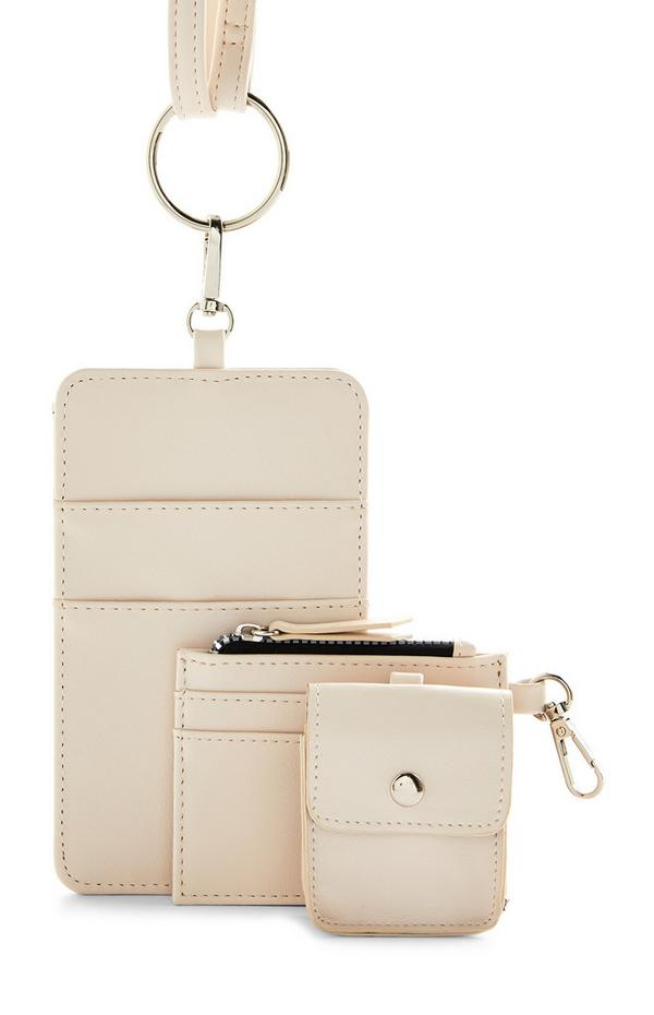 Cream Multi Function Phone Pouch