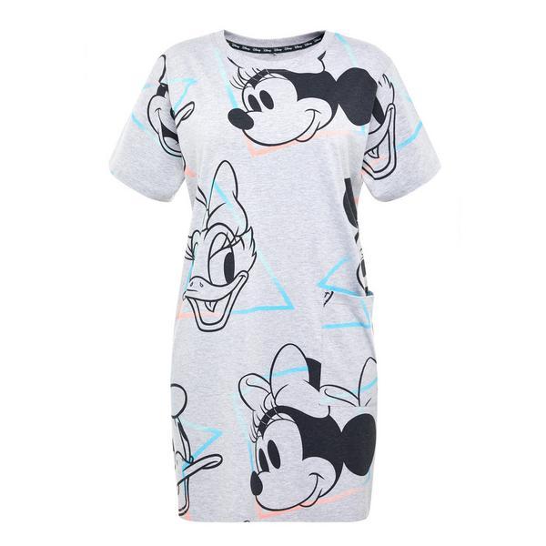 Camicia da notte grigia amici Disney