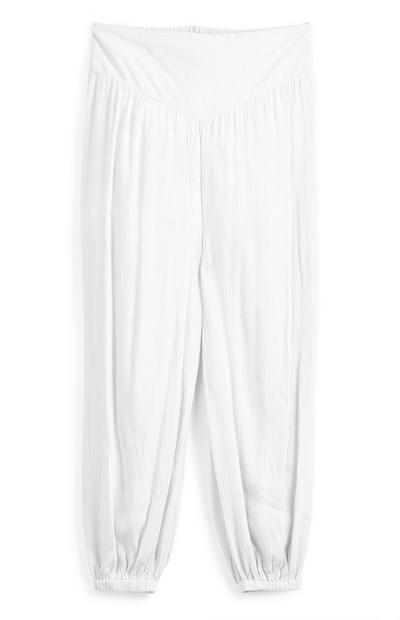 Pantaloni bianchi harem da ragazza