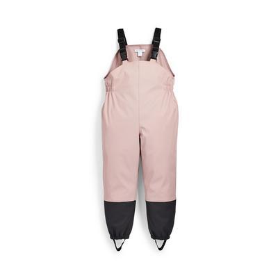 Pantalon de pluie rose pour fille