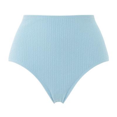 Braguita de bikini azul de canalé