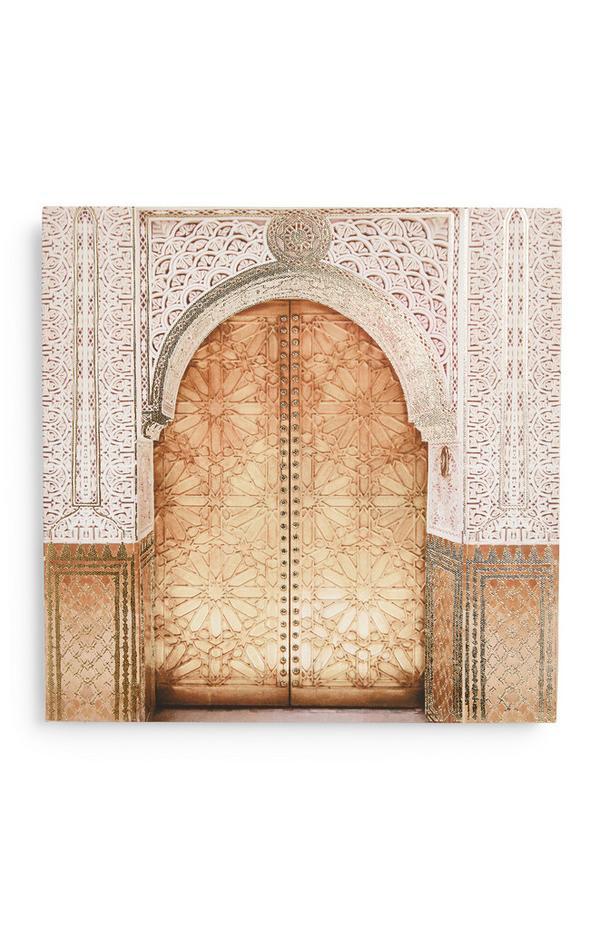 Lienzo decorativo con estampado de puerta
