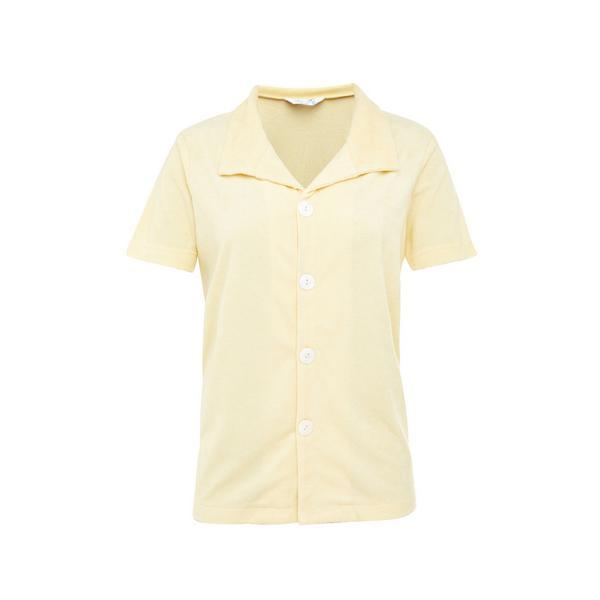 Camisa de felpa amarillo limón