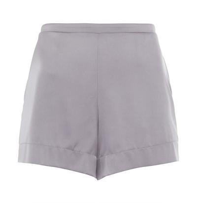 Silver Satin Shorts