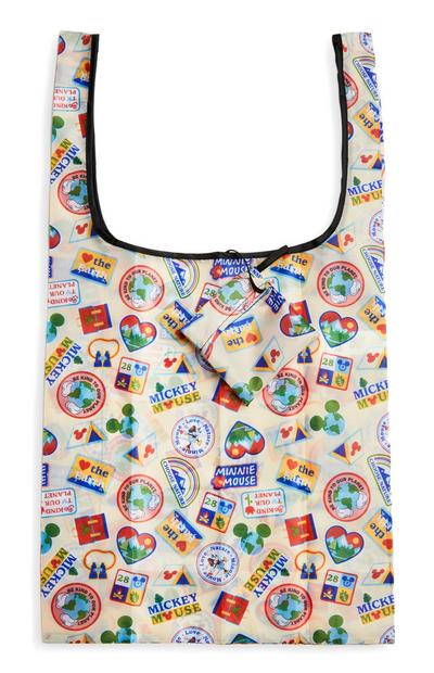 Opvouwbare shopper Disney Mickey Mouse Love Earth