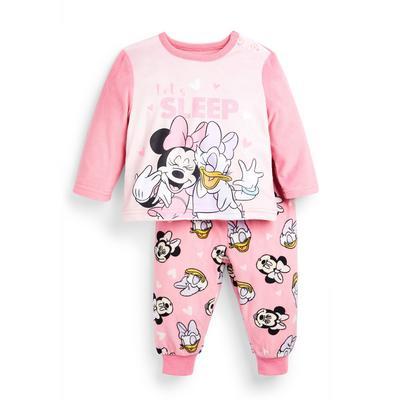 Baby Girl Disney Minnie Mouse Minky Pyjamas