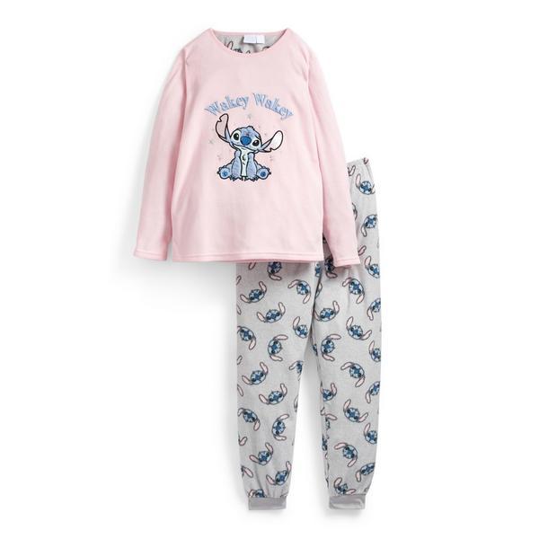 Older Girl Lilo And Stitch Fleece Pyjamas Set
