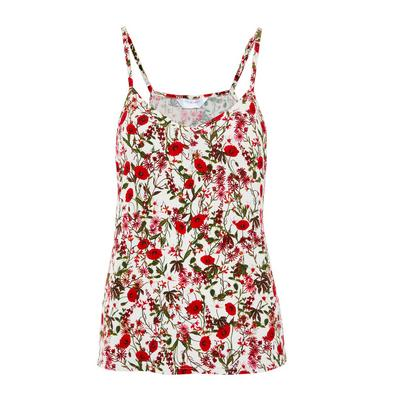 Red Floral Print Camisole
