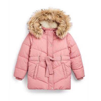 Veste matelassée rose fille