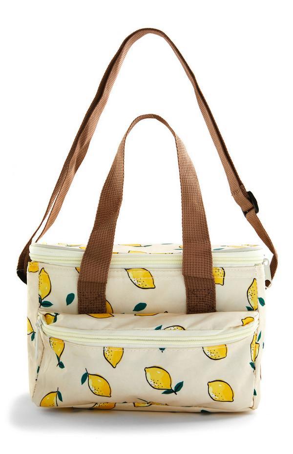 Petit sac isotherme à motif citrons