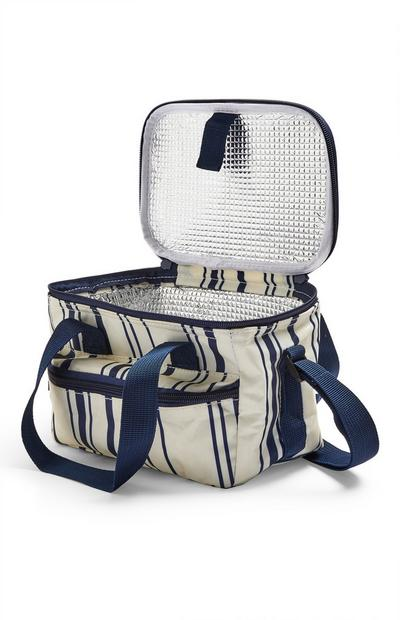 Blue Striped Small Cooler Bag