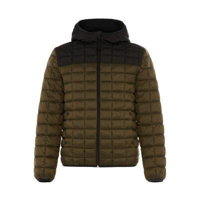 Kaki doorgestikte jas Primark Cares met kleurvlakken