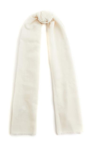 Slonokoščen enobarven šal