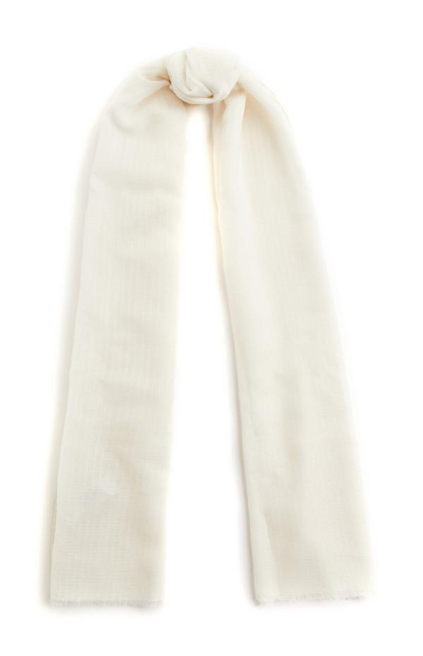 Effen ivoorwitte sjaal