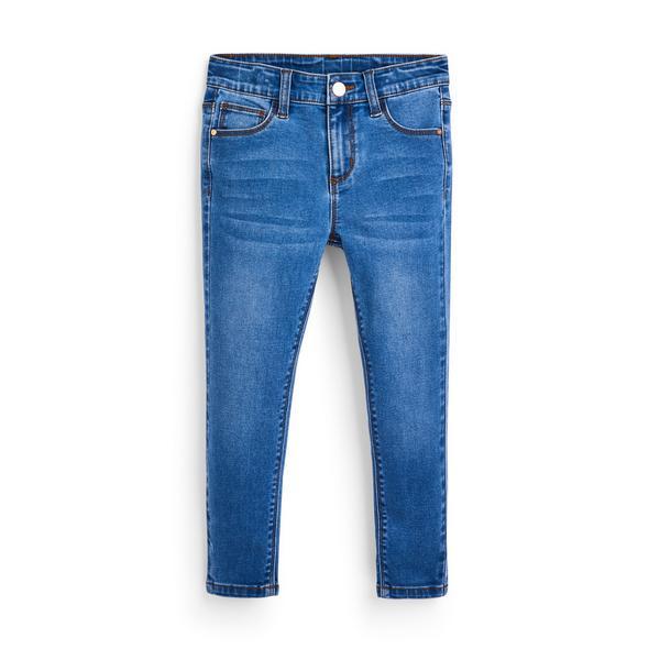 Jeans skinny in denim blu da bambina