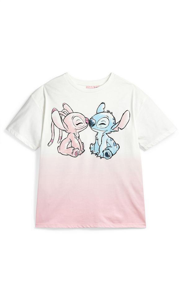Roze ombré T-shirt Lilo & Stitch voor meisjes