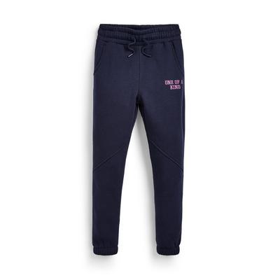 Donkerblauwe skinny joggingbroek voor meisjes