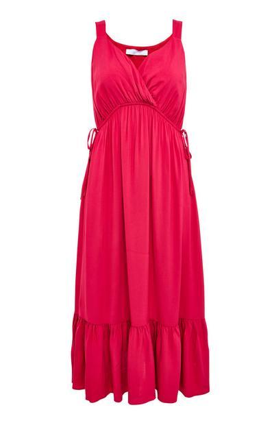 Pink Wrap Gardeners World Front Maxi Dress