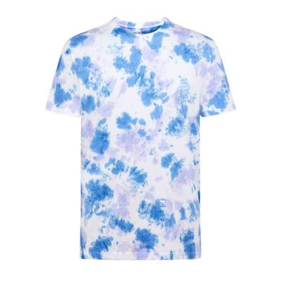 Camiseta azul con efecto «tie-dye»
