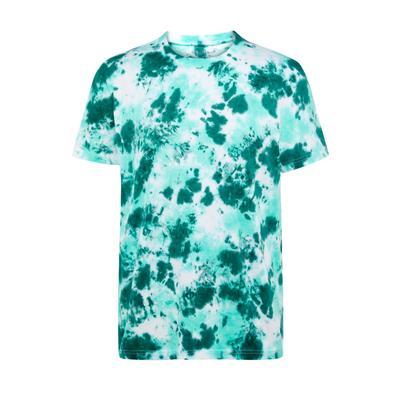 Groen tie-dye-T-shirt