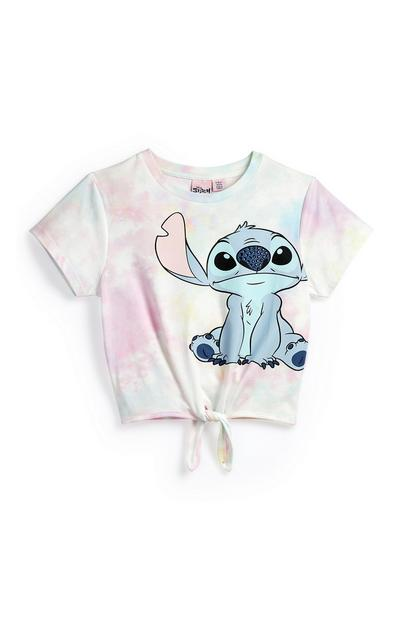 """Pastellfarbenes """"Lilo & Stitch"""" T-Shirt in Batikoptik (Teeny Girls)"""