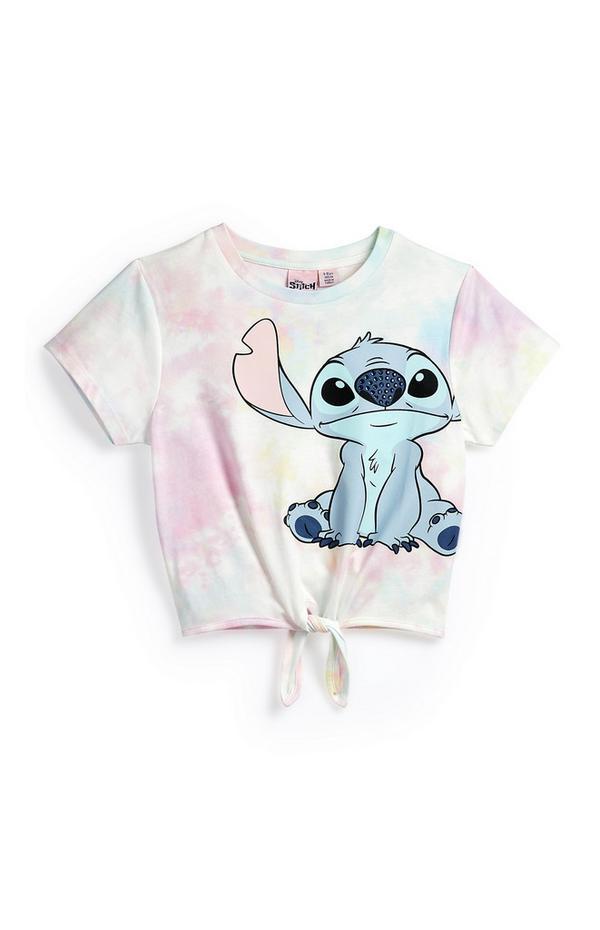 Pastelkleurig tie-dye T-shirt Lilo & Stitch voor meisjes