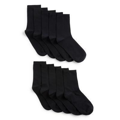 10 paia di calzini alla caviglia neri da bambino