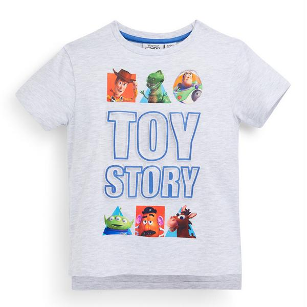 Younger Boy Grey Embroidered Toy Story T-Shirt