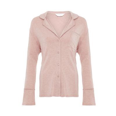 Pink Marl Modal Shirt