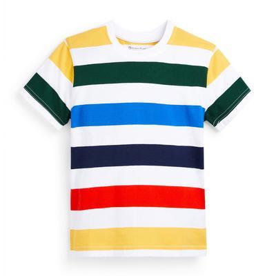T-shirt à rayures colorées garçon