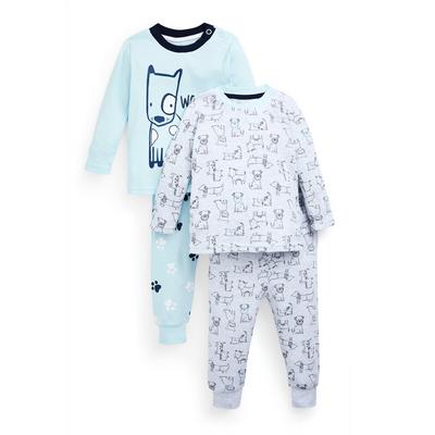 Baby Boy Dog Print Jersey Pajamas 2-Pack