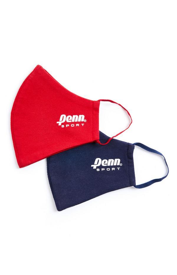 Penn Sport Masken, Rot/Marineblau, 2er-Pack