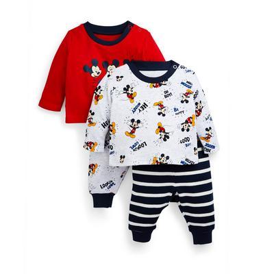Baby Boy Disney Mickey Mouse Pyjamas 2 Pack