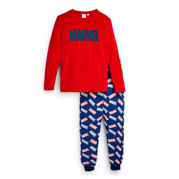 """Rotes """"Marvel"""" Pyjamaset (Teeny Boys)"""