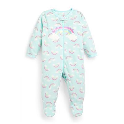 Babygrow estampado arco-íris menina bebé menta