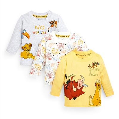 Baby Boy The Lion King Longsleeve T-Shirts 3 Pack