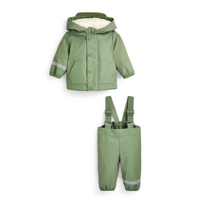 Baby Boy Go Khaki Rain Set 2 Piece