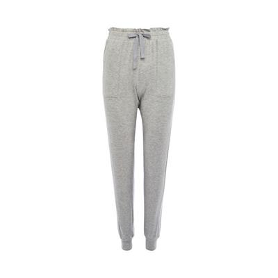 Gray Supersoft Ribbed Leggings