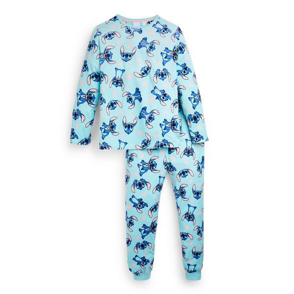 Pyjama en tissu minky Lilo et Stitch ado