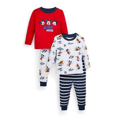 Baby Boy Disney Mickey Mouse Pajamas 2-Pack