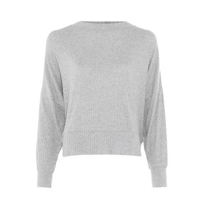 Gray Supersoft Ribbed Longsleeve Sweater