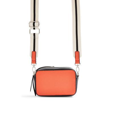 Orange Boxy Camera Bag